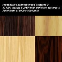 30 SUPER high definition procedural seamless wood textures.