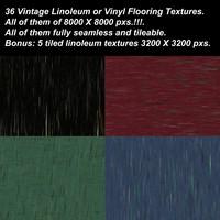 36 Vintage Linoleum or Vinyl Flooring Textures.