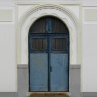 Wooden church door texture