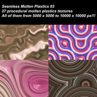 27 High definition procedural molten plastics textures.
