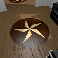 Decorative Parquet Star 01