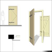 Door Single Wing Ledged 00271se