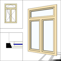 Window Double Swing 00278se