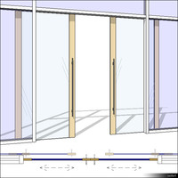 CurtWall Door Double Sliding 00338se