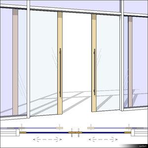 CurtWall Door Double Sliding 00338se