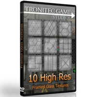 10 High Res Framed Glass Textures