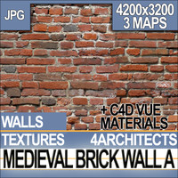 Medieval Brick Wall Texture & Material A