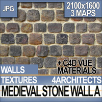 Texture Medieval Stone Wall & Material A