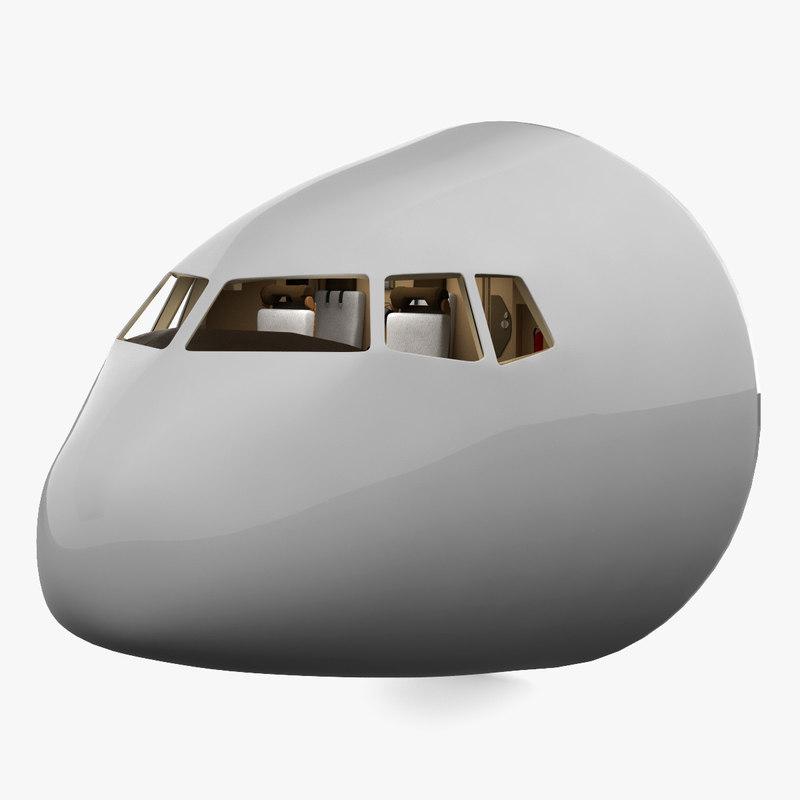 realistic boeing 777 cockpit 3d lwo