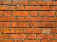 Od red brick wall