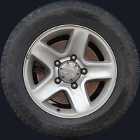 Grand Vitara Wheel Texture Map