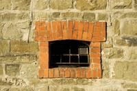 Window on a stone wall