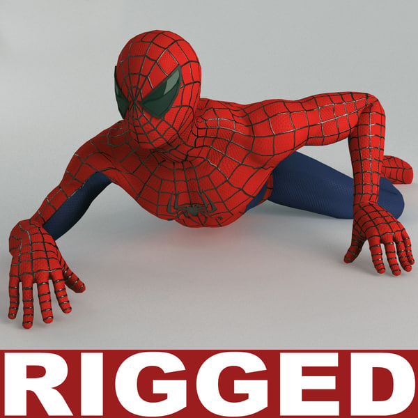 3ds max spiderman rigged