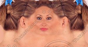 White Woman Facial Texture