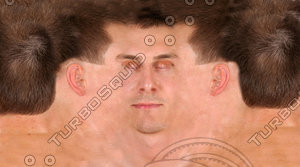 White Male Face Texture