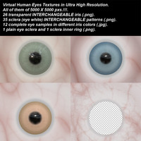 Virtual Human Eyes Textures in Ultra High Resolution.