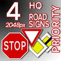 Priority Road Signs Collection