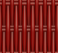 Plastic Wicker red