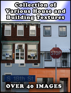 House/Building Textures for High Quality Low Poly Modeling