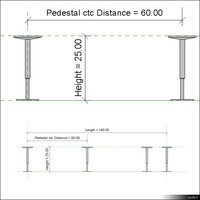2D Floor Raised Pedestal 01108se