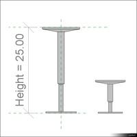 2D Raised Floor Pedestal01109se