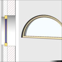 Window Fix Half Round 01236se