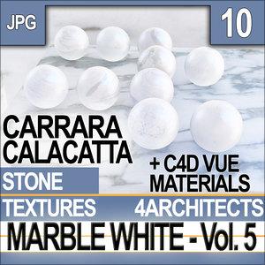 Texture Marble White & Materials Vol. 5 Carrara Calacatta