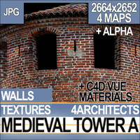 Medieval Tower Texture & Material A