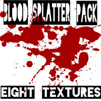 Blood Splatter Texture Pack
