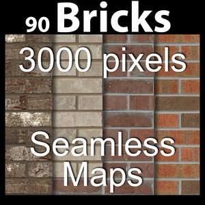 Brick Texture Maps 90 -  acme  tileable seamless Bricks block mason masonry brickwork mortar brick building materials material construction vray