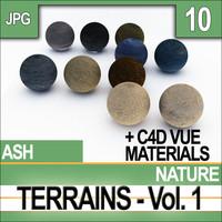 Texture Ash Terrains & Materials Vol 1