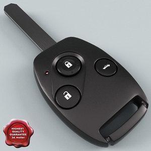 remote key fob honda 3ds