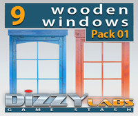 DLWOOD ArchitecturalParts Window Pack 01