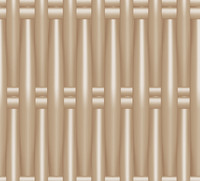 Plastic Wicker beige.