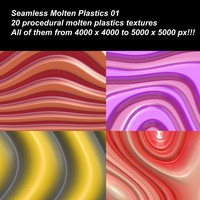 20 High definition procedural molten plastics textures.