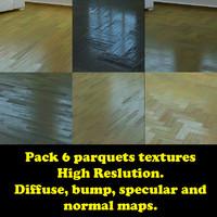 Pack 6 realistics parquets textures