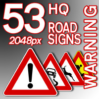 Warning Road Signs Collection