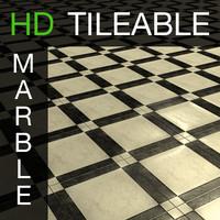 Black marble tile