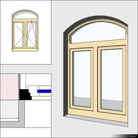Window Casement Double Trans Arc Mull 00282se