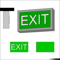 Emergency Exit Ceiling Mount 00468se