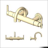 Faucet Bath Wall Two Hole 01093se