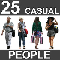 25 Casual People Textures - V6