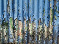 Corrugated iron closeup