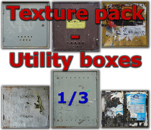 Electric utility boxes - texture pack - 1/3