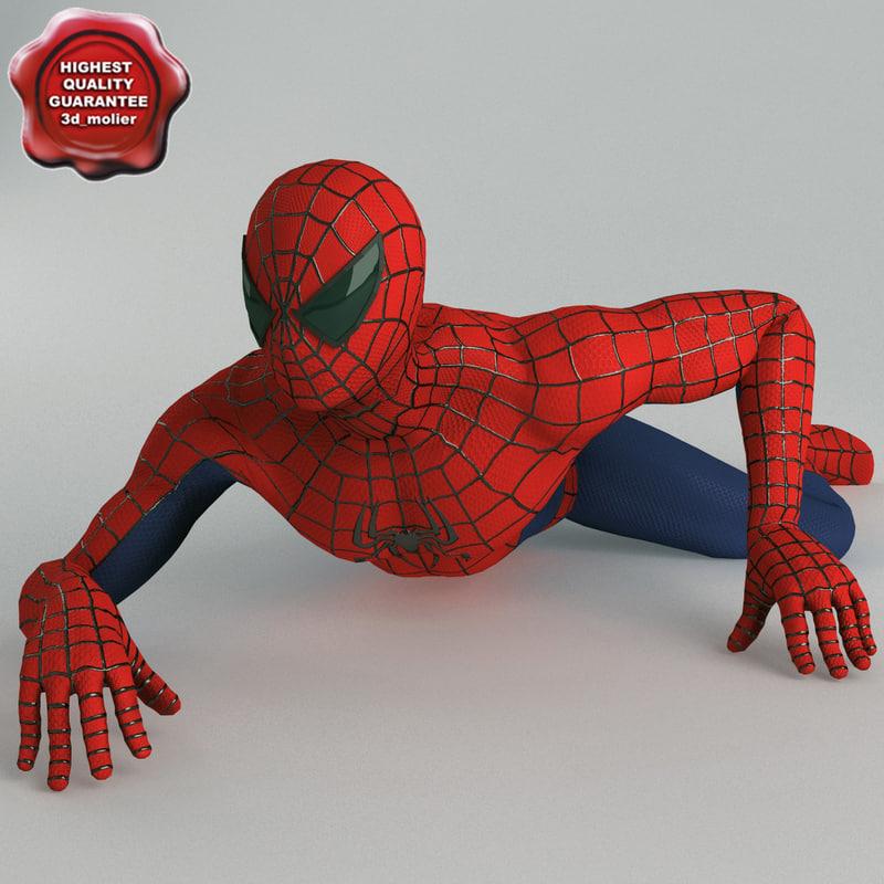 3d obj spiderman modelled