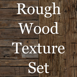 Rough Hewn Tileable Wood Texture Set