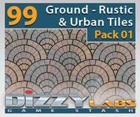 DLGND Ground Rustic & Urban Tiles Pack 01