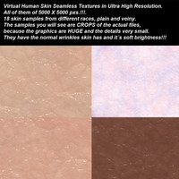 High resolution seamless human skin textures.