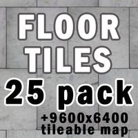 Tiled floor - 25 pack