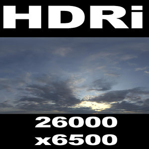 Super high res HDRi sky